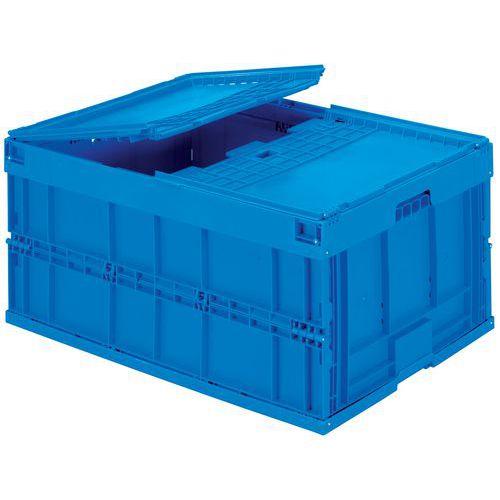 Caixa dobrável azul - 200 L