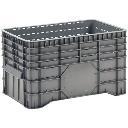 Caixa-palete empilhável – Paredes gradeadas – Com pés – Manutan