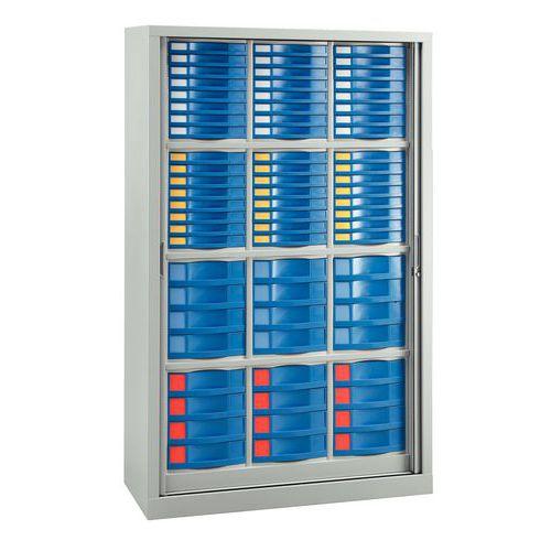 Armário com portas de persiana - 72 gavetas