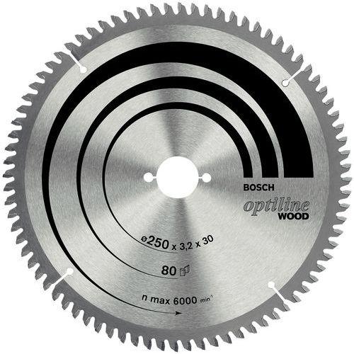 Lâmina de serra de esquadria e radial Optiline Wood - Ø 254 mm - Cubo Ø 30 mm