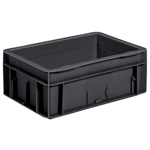 Caixa de norma europeia - Integral - Preta reciclada
