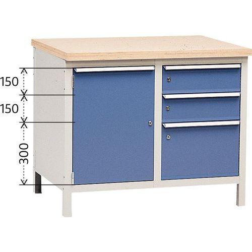 Bancada sem tampo Modul 100 com armário e gavetas