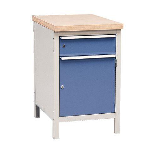 Bancada sem tampo Modul 52 com armário e gaveta