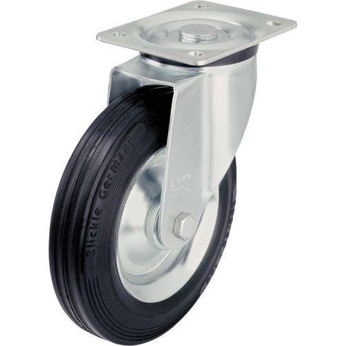 Rodízio giratório com placa - Capacidade de 50 a 295 kg