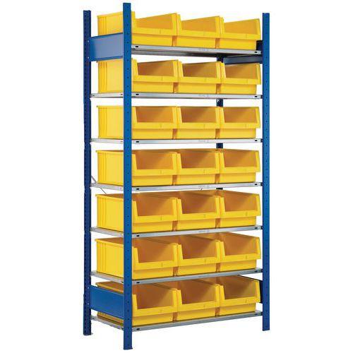 Estante aberta para 21 caixas de bico Easy-Fix – base
