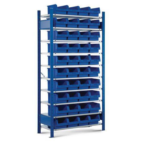 Estante aberta para 40 caixas Easy-Fix – base