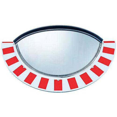 Espelho de circulação com visão panorâmica