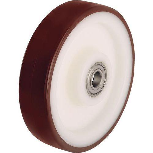 Roda - Capacidade de 200 a 700 kg - Rolamento de esferas
