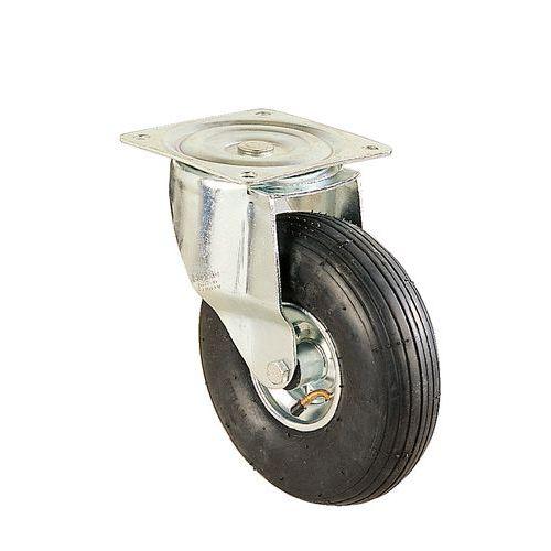 Rodízio giratório com placa - Capacidade de carga de 75 a 250 kg