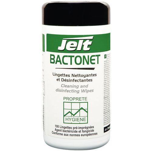Toalhete de limpeza e desinfeção em caixa BACTONET®