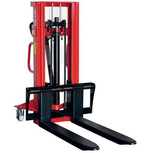 Empilhador manual de grande elevação – garfo de 1150mm – capacidade de 1000kg