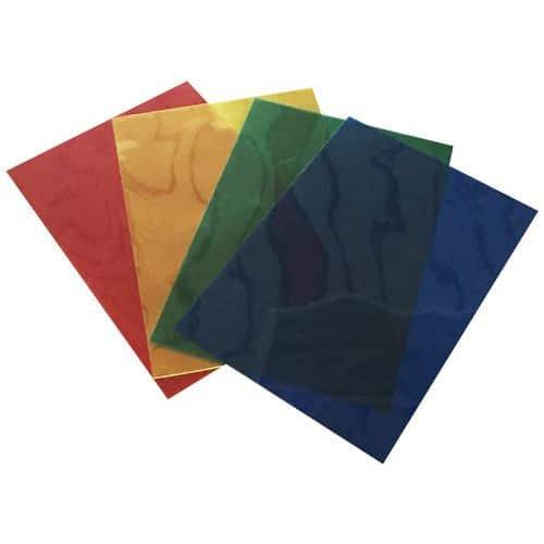 Capas para encadernação transparentes coloridas em formato A4 – conjunto de 100