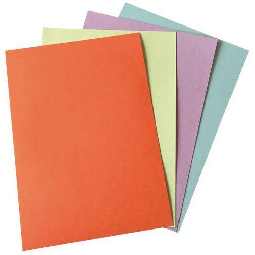 Capas para encadernação em PVC com 4 cores de formato A4 – conjunto de 25