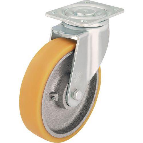 Rodízio giratório com placa - Capacidade de 350 a 900 kg
