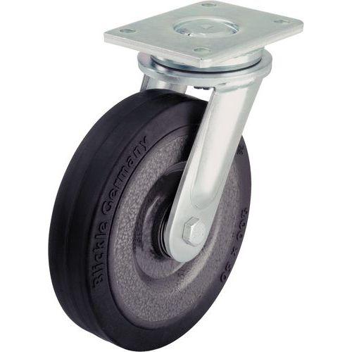 Rodízio giratório com placa - Capacidade de 180 a 1.150 kg