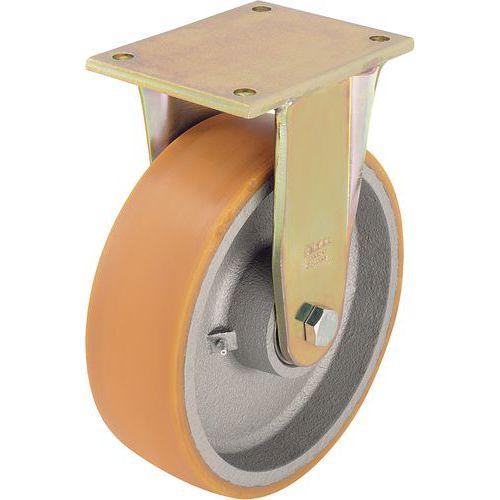 Rodízio fixo com placa - Capacidade de 550 a 3 300 kg