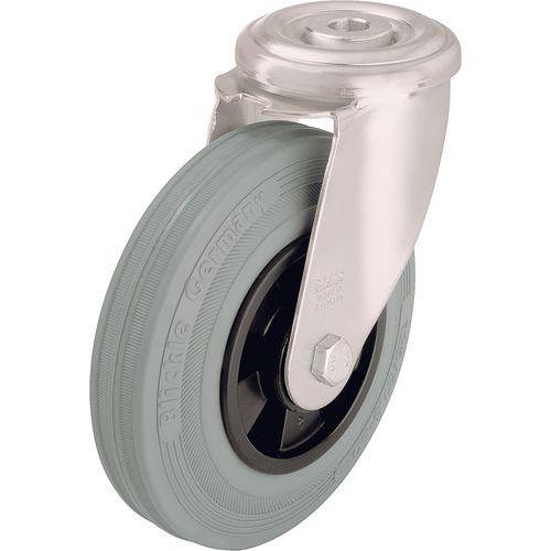 Rodízio giratório de olhal - Capacidade de 50 a 205 kg - Cinzento