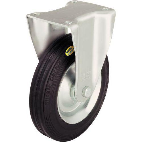 Rodízio fixo com placa - Capacidade 100 a 350 kg