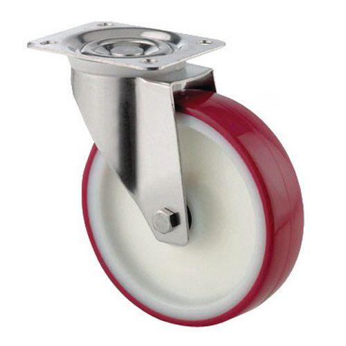 Rodízio giratório com placa - Capacidade de 100 a 400 kg