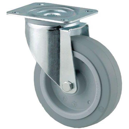 Rodízio giratório com placa - Capacidade 150 a 400 kg