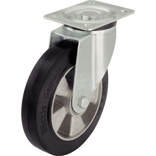 Rodízio giratório com placa – capacidade de carga de 180 a 550kg