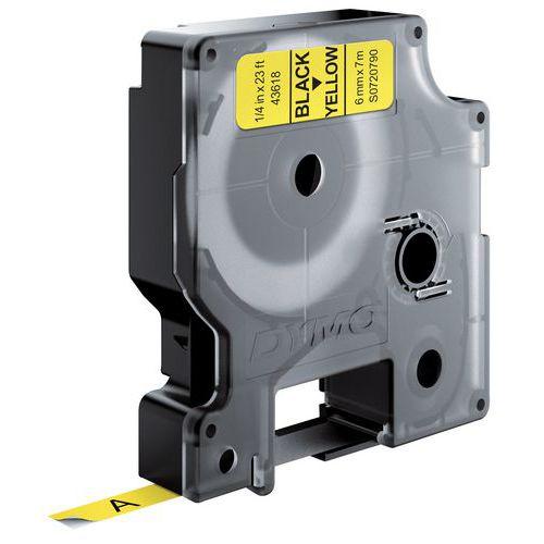 Cassete de fita Dymo D1 - Largura 6 mm