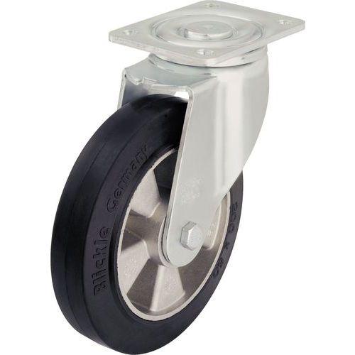 Rodízio giratório com placa - Capacidade de carga de 180 a 550kg - Grande durabilidade