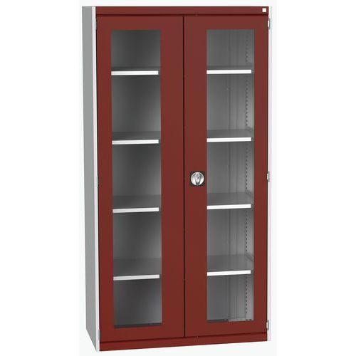Armário pesado com portas transparentes Cubio