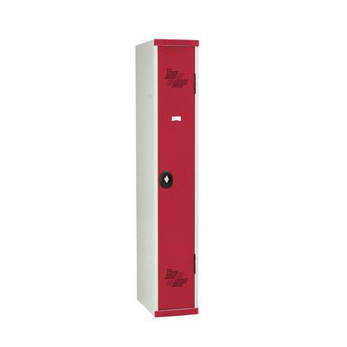 Cacifo com cabides Seamline Optimum® – 1 coluna de 300mm de largura – Com base – Acial