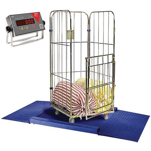 Plataforma de pesagem EPÓXI + 2 rampas de acesso de 1500 e 3000kg