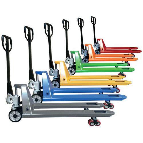 Porta-paletes Premium com etiqueta de identificação – colorido – 2500kg
