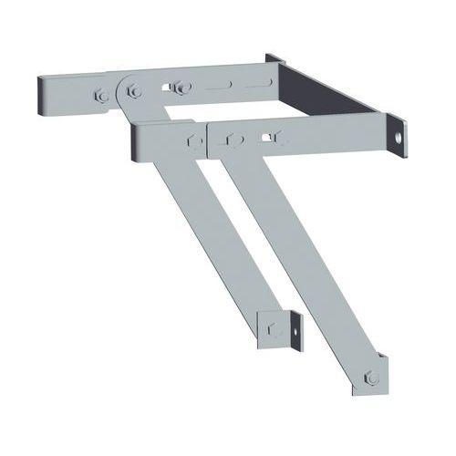 Consola de fixação regulável para escada com guarda-corpo