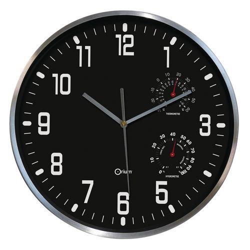 Relógio de parede com termómetro e higrómetro