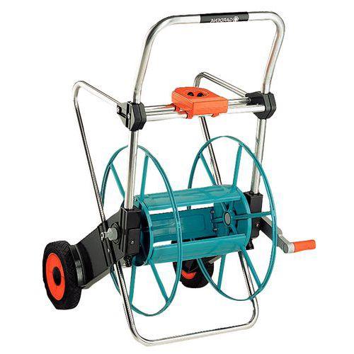 Porta-mangueiras metálico com rodas – Gardena 100 – não equipado – ergonómico