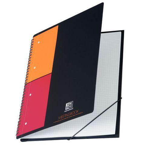 Caderno de argolas Oxford Meetingbook de formato A4