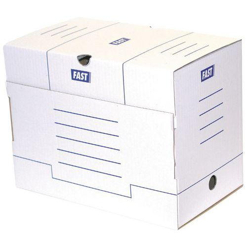 Caixa de arquivo, cor branco