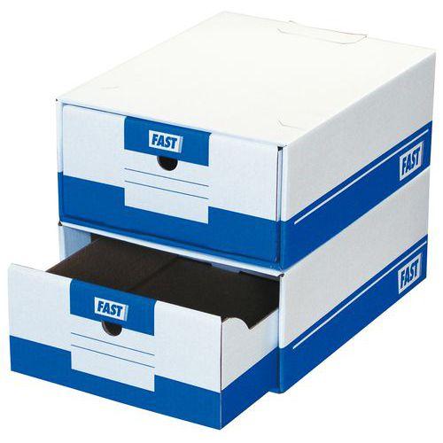 Caixa de arquivo com gavetas