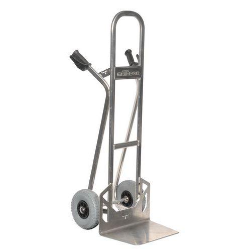 Transportador em alumínio – pala fixa – rodas antifuros – capacidade de 200 a 350 kg