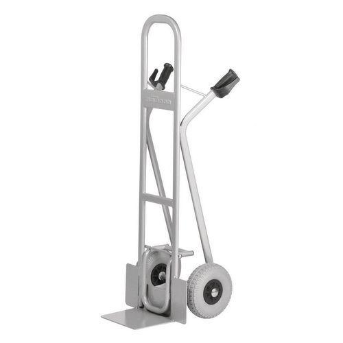 Transportador em aço – aba fixa – rodas antifuros – capacidade de 300kg