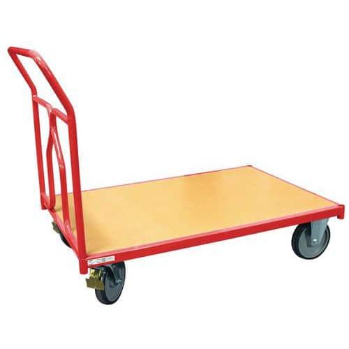 Carro com espaldar amovível – plataforma em madeira – capacidade de 500kg – FIMM