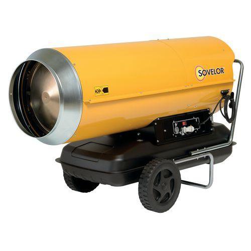 Aquecedor de ar pulsado portátil – óleo combustível – combustão direta – 111 kW – Sovelor