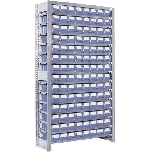 Estante com caixas-gavetas da série RK – profundidade: 524mm