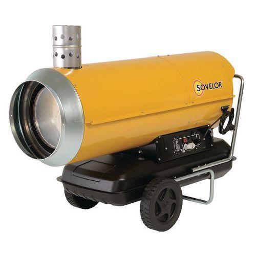Aquecedor de ar pulsado portátil – óleo combustível – combustão indireta – Sovelor