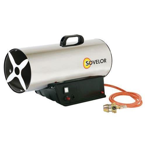 Aquecedor de ar pulsado portátil – gás propano e ignição manual – MG 180 e MG 310 – Sovelor