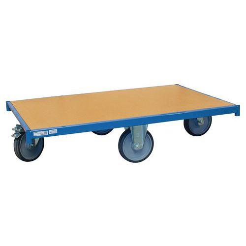 Plataforma móvel em madeira – rodas em losango – capacidade de 500kg – FIMM