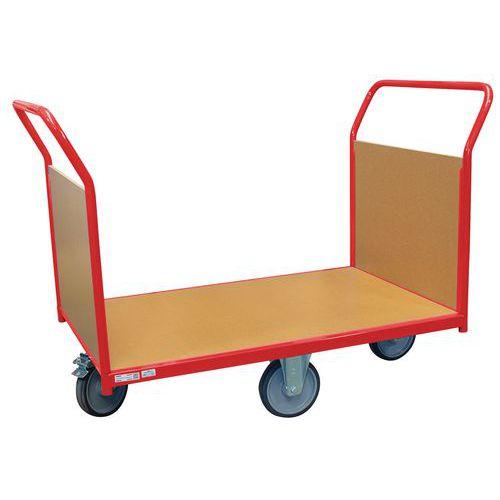 Carro modular com painéis em madeira – rodas em losango – capacidade de 500kg – FIMM