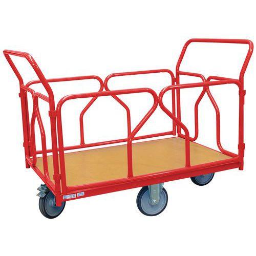 Carro modular com revestimento tubular e rodas em losango – capacidade de 500kg – FIMM