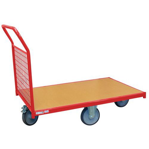 Carro modular com painel gradeado e rodas em losango – capacidade de 500kg – FIMM