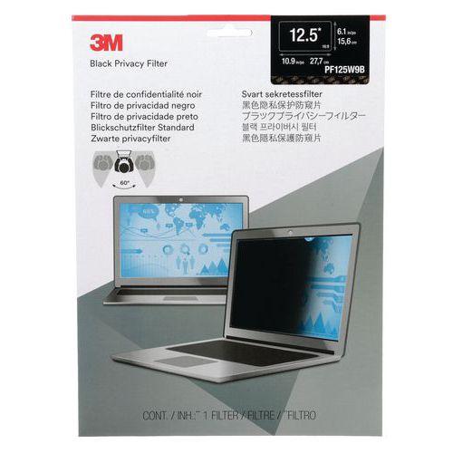 Filtro de confidencialidade preto para computador portátil de 12,5 a 24