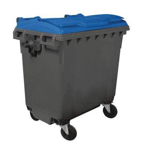Contentor para resíduos com 4 rodas – 770L – Mobil Plastic